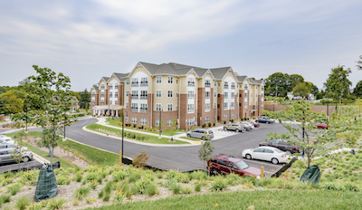 View of entire Victory Haven community in Damascus, MD, after virtual dedication ceremony