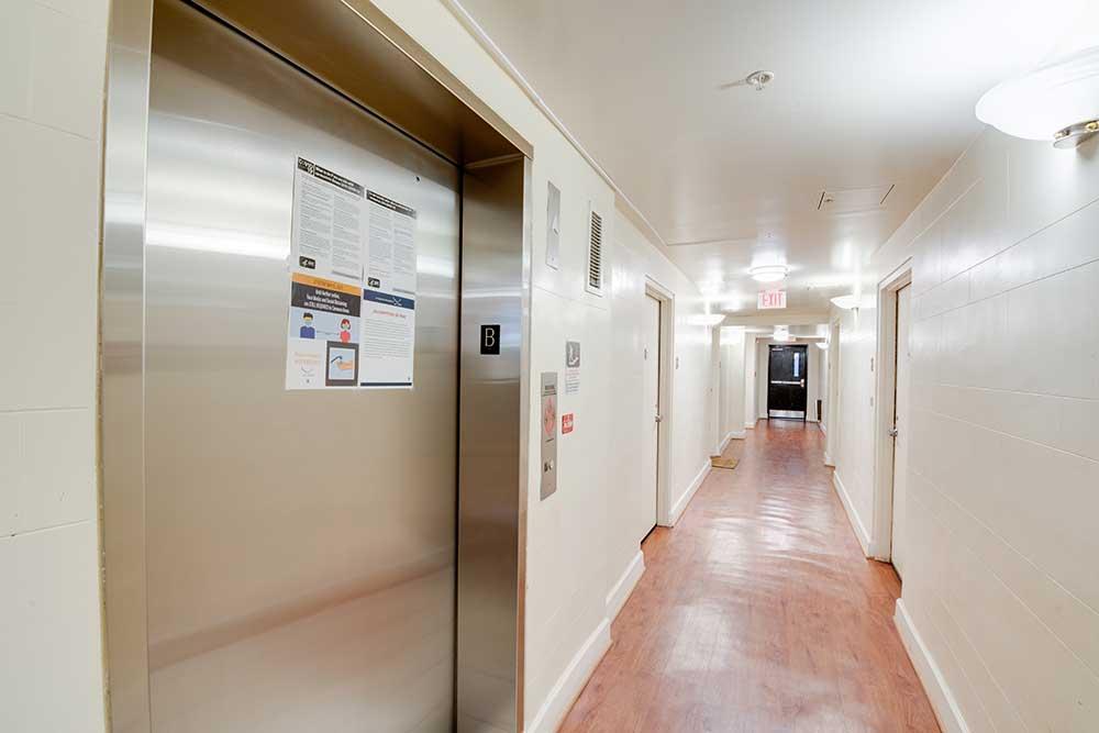 Parkfair hallway, a Victory Housing Location.