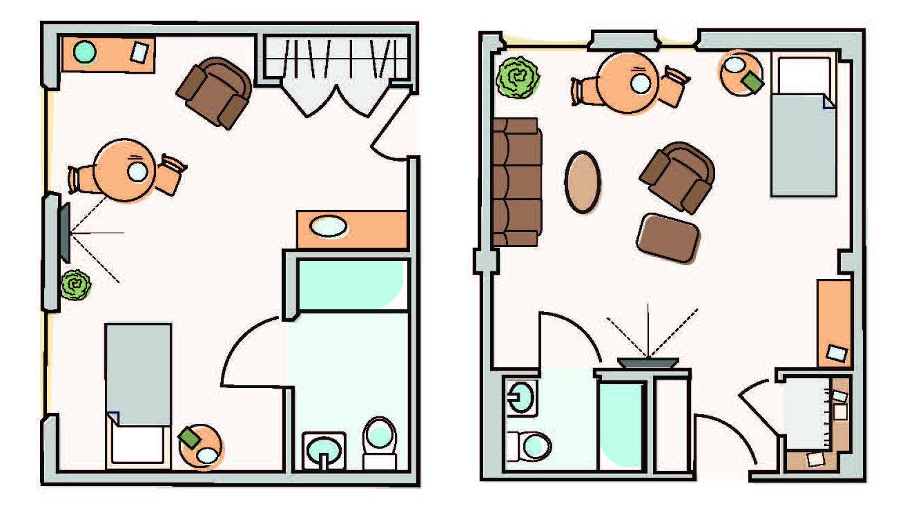 Marian House Floor Plans